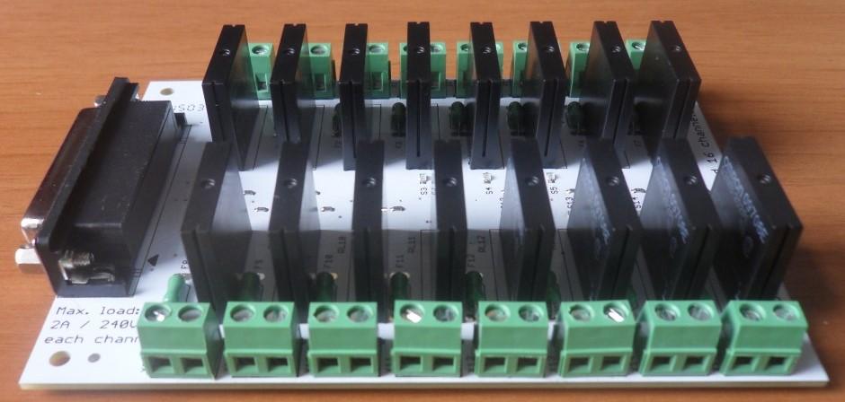 SSR module board 16 channels side view