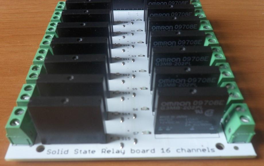 SSR module board 16 channels back view